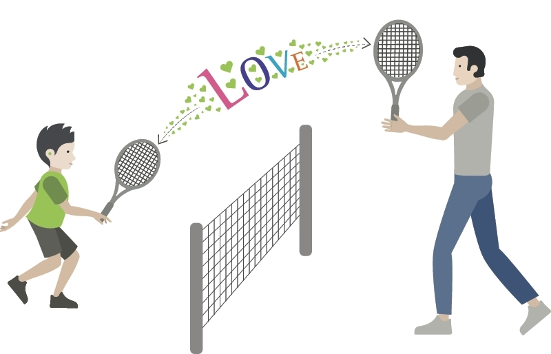 Phonak Tennis Illustration
